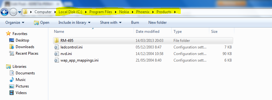 ... download tadi pada direktory C:\Program Files\Nokia\Phoenix\products