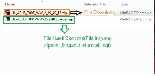 File hasil ekstrak