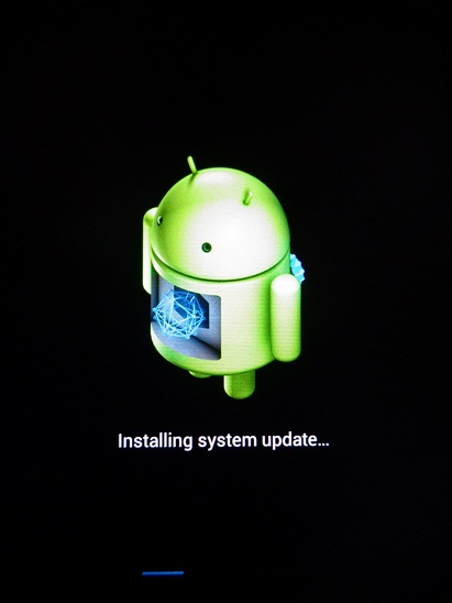 Installing System update