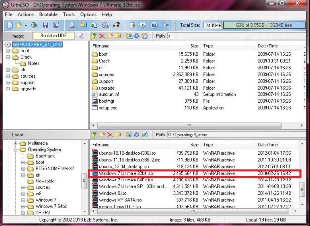 Klik File ISO